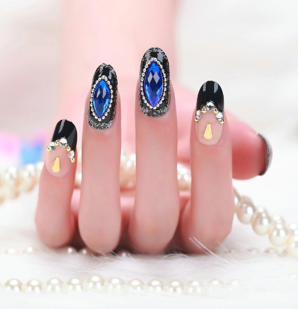 2015 3d unhas falsas curtos de manicure francês noiva oceano perfuração do prego produto de beleza manicure set(China (Mainland))