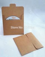 12.5x12.5cm High quality CD sleeve 250gsm thick Brown Kraft CD/DVD paper bag cd packaging bag  100pcs/lot