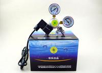 Aquarium tank planted Dual Gauge co2 system Pressure Regulator co2 gas Cylinders Pressure Regulator with magnetic solenoid valve