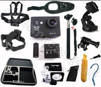 Gopro  SJ 4000 5000 SJ6000 WIFI Go pro Camera  Monopod Floating Bobber Tripod  Hand Strap Go-pro Case Mount Kit Accessories