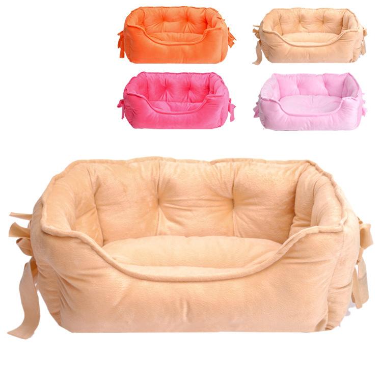 Nova alta qualidade cama pet / tapete veludo macio gato cão Waterloo / pet produtos para de cachorro quente dedicado Small dog 4 cores(China (Mainland))