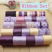 36 yards/set craft satin and grosgrain ribbon and lace ribbons for ribbon set Webbing Decor Hair accessories Bow handmade