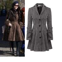 2014 fashion spain desigual women winter long coats womens spring autumn novelty dress coats