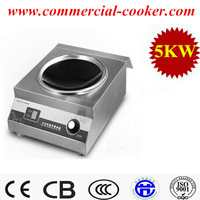 5000w stainless steel commercial induction wok cookers for catering kitchen cooking chinese dish