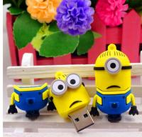 sale 2GB 4GB 8GB16GB  Full Capacity Despicable Me Minions USB 2.0 Flash Drive pendrive thumb Car Key Memory Card Pen