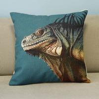 "Colorful Animal Lizard Cotton Blend Linen Pillow Case Office Decor Cushion Cover Square 18"""