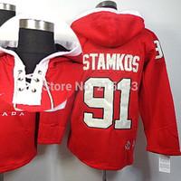 Tampa Bay Lightning #91 Steven Stamkos 2010 Olympic Red Men Ice Hockey Hoodies Jersey Winter NHL Sweatshirts