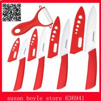 High Quality Brand Ceramic Knife Set,Cooking Tools Home Kitchen Knives Antiskid Handle,Paring Knives 3''/4''/5''/6'' + Peeler