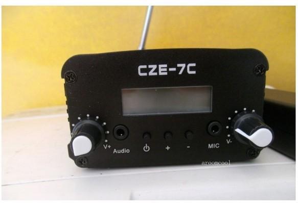 2015 7Watt Stereo LCD Broadcast Radio Station FM transmitter(China (Mainland))