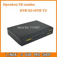 10pcs Original Openbox V8 Combo Digital Receiver with DVB-S2+DVB-T2 Support Cccamd Newcamd Youtube Youporn Google Map USB Wifi