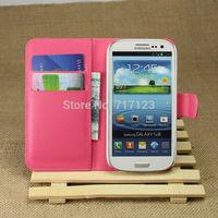 1x Fashion Flip PU Leather Wallet Case Cover For Samsung Galaxy S3 I9300 I9308 SIII NEO+ I9300i I9301 SIII DUOS I939D Free Ship