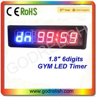 """High 1.8"""" Brightness 6digits LED countdown timer used for GYM sports"""