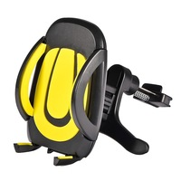 Universal Car Air Vent Mount Holder Cradle for Cellphone for iPhone Samsung  for LG Motorola Moto X Droid for HTC One Yellow