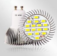 100pcs/lot 6w 16pcs 5730 SMD  LEDs GU10  Bright Led Light Bulb LED Spotlight Free Shipping