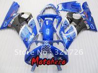 Blue black for KAWASAKI Ninja ZX6R 636 03-04 ZX-6R 2003-2004 6R 03 04 ZX 6R 2003 2004 motorcycle fairing kit + free windscreen