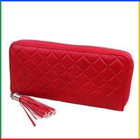 2014 plaid famous brand women purse with wrist belt for women fashion sport zipper wallet; purses