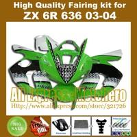 Injection mold ABS fairings for ZX6R 636 03-04 ZX-6R 2003-2004 6R 03 04 ZX 6R 2003 2004 fairing kit X7821A