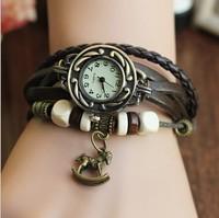 Relogios Femininos Leather Knit Women Vintage Sports Watches,Bracelet Wristwatches Hose Pendant Quartz Watch,Free Shipping