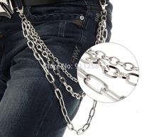 Multi-layer Men Unique Punk Metal Pants Chain Classic Vintage Men Waist Chain Belt Chian for Street Boys FS3197