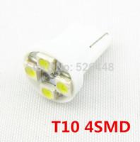 20X Whole Sale car led auto led w5w 194 4 SMD T10 4LED 4 LED smd 4smd 3528/1210 Wedge lamp Bulbs Car Side Indicator Light