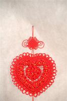 5pcs  Pure manual Chinese knot, heart-shaped pendant 19 roses handmade Chinese knot pendant  Chinese knot