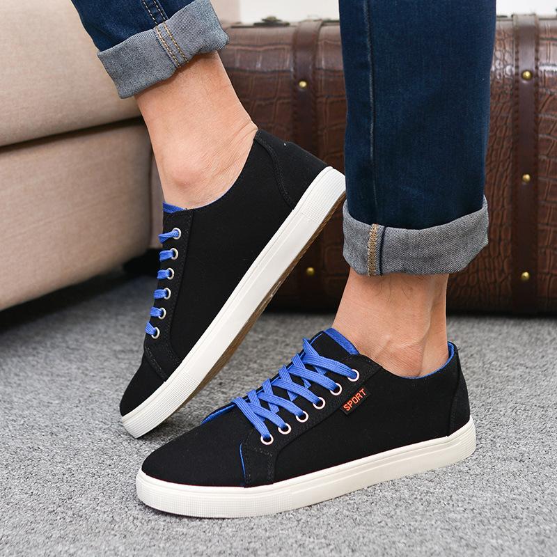 В четыре базовые брезент обувь для мужчины в англия корейский свободного покроя обувь
