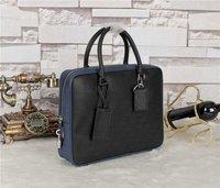 Fashion Handbags Designer Handbags High Quality For Men Genuine Leather Zipper Briefcase Casual Male Bag DHL Free Shipping