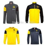 2014 2015 Borussia Dortmund Soccer Sweatshirts Long-sleeved Knitted Sports Sweater Dortmund Football Training Jackets