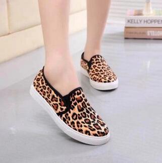 o novo cair sapatos lisos, pretos e amarelo leopardo, sapatos de mulheres d