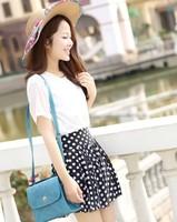 Chiffon High Waist Short Skater Pleated Skirt can wear at all seasons Free shipping Fashion Women Skirts  88470
