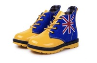 European And American Girls Genuine Leather And Cotton Children Warm Cotton Boots Size 26-37 Free Shipping