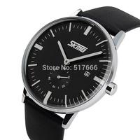 Watches Men Luxury Brand Skmei Genuine Leather Strap Wristwatches Men Casual Watch Fashion Casual Quartz Business Relogio 9083
