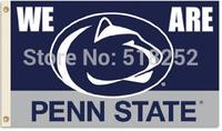 NCAA Penn Flag 3x5 FT 150X90CM Banner 100D Polyester flag 1030, free shipping