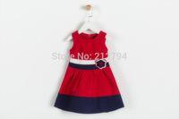 2014 new girls stereo flower waist kilt color stripe vest  is free shipping