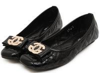 2014 New CG women ladies fashion patent leather bow flats michaeled shoes black/apricot plus size 35-42