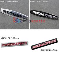 20pcs Silver Black MS SPEED Aluminum Alloy Badges Emblem 100x18mm