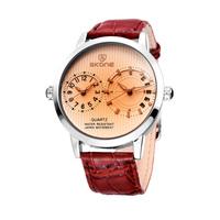 Hot Sale SKONE Brand Dual Time Zone And Military Watches Watch Man, Man Belt Movement Quartz Watch