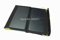 Free shipping via HongKong Post Hot sales 5V solar charger backside 13W 6.5V sunpower charger solar bag solar folding bag
