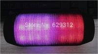 Free DHL!20pc/lot Plus speaker 360 LED light portable bluetooth speaker mini wireless speaker subwoofer speaker+TF/USB slot xmas