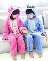 Cute Children Flannel Animal Jumpsuit Sleepwears Warm animals Hooded Pyjamas