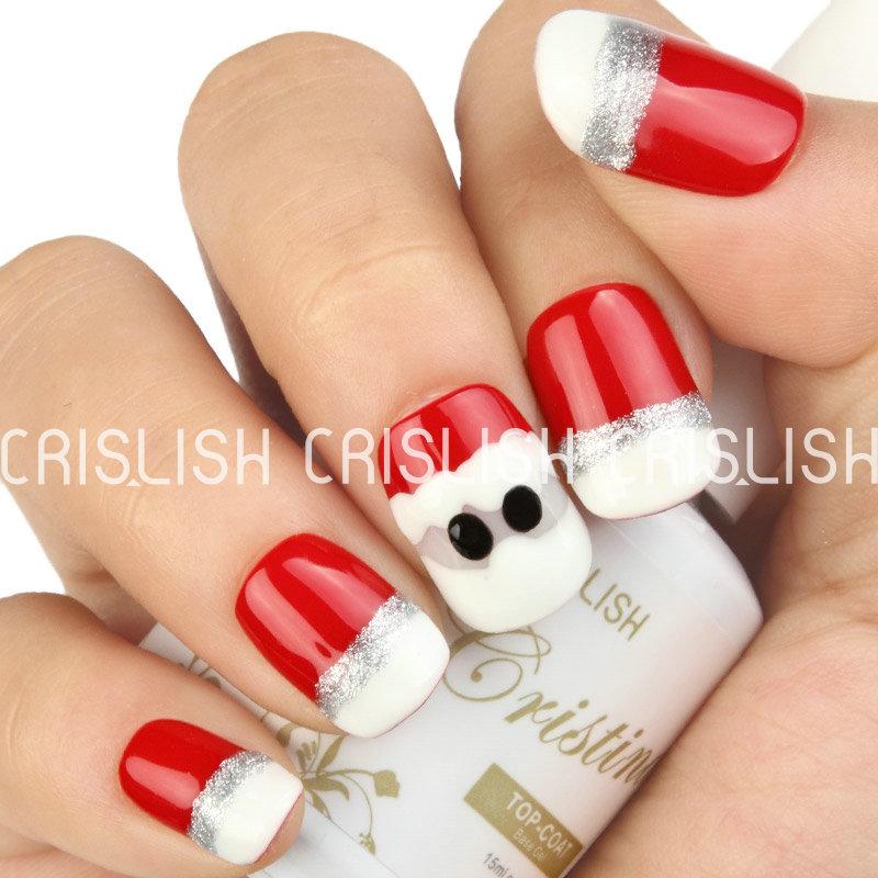 2015 Crislish UV LED Nail Polish Gel Polish Top Base Coat 1323 1508 1518 1626 Christmas DIY Nail Art Kit(China (Mainland))