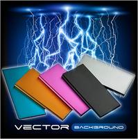 Free Shipping Ultra-thin Real Capacity 6000mAh Metal Casing Mobile Phone External Battery Pack Portable Power Bank