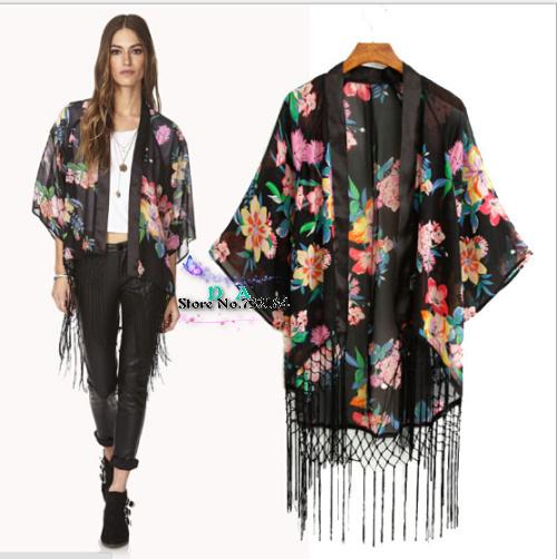 Женские блузки и Рубашки Brand new 2015 Kimono Cardigan женские блузки и рубашки brand new o sv003597