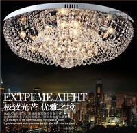 Modern minimalist fashion round LED K9 crystal chandelier crystal lamp living room dining room lighting