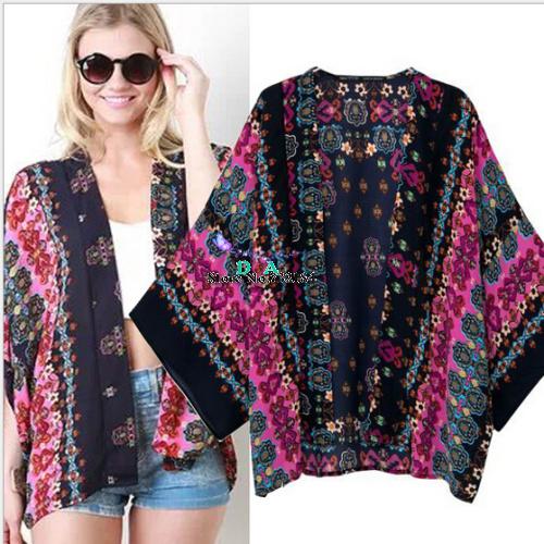 Женские блузки и Рубашки Brand new 2015 Kimono Cardigan  женские блузки и рубашки kimono cardigan 2015