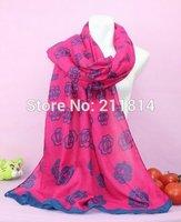 2014 New fashion Famous flower scarf cashmere women poncho shawl Long Scarves