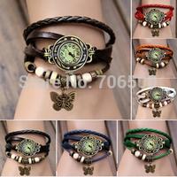 2014 New Arrivals High Quality Women Dress Genuine Leather Vintage Watch,women watch,bracelet Wristwatches