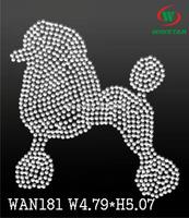 Transfer Iron On Wholesale Available Poodle Rhinestone Transfer Iron On. Hot Fix WAN181