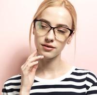 2014 New TR-90 plain mirror glasses small cat-eye women optical glasses prescription light fashion 5865