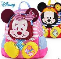 Cute Cartoon Mickey Kindergarten Middle Big Class Boy And Girl Schoolbag/Children Backpack 2018